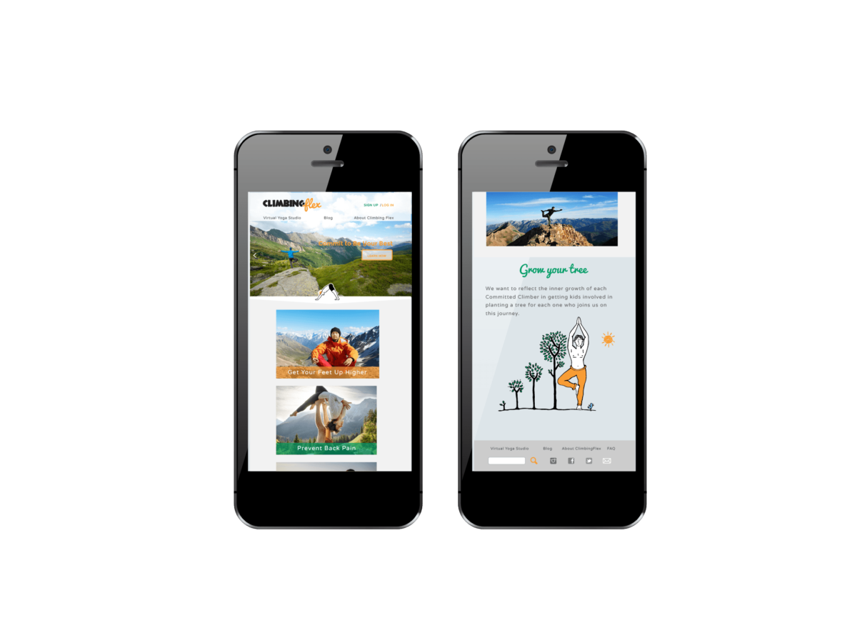 Climbingflex responsive web design