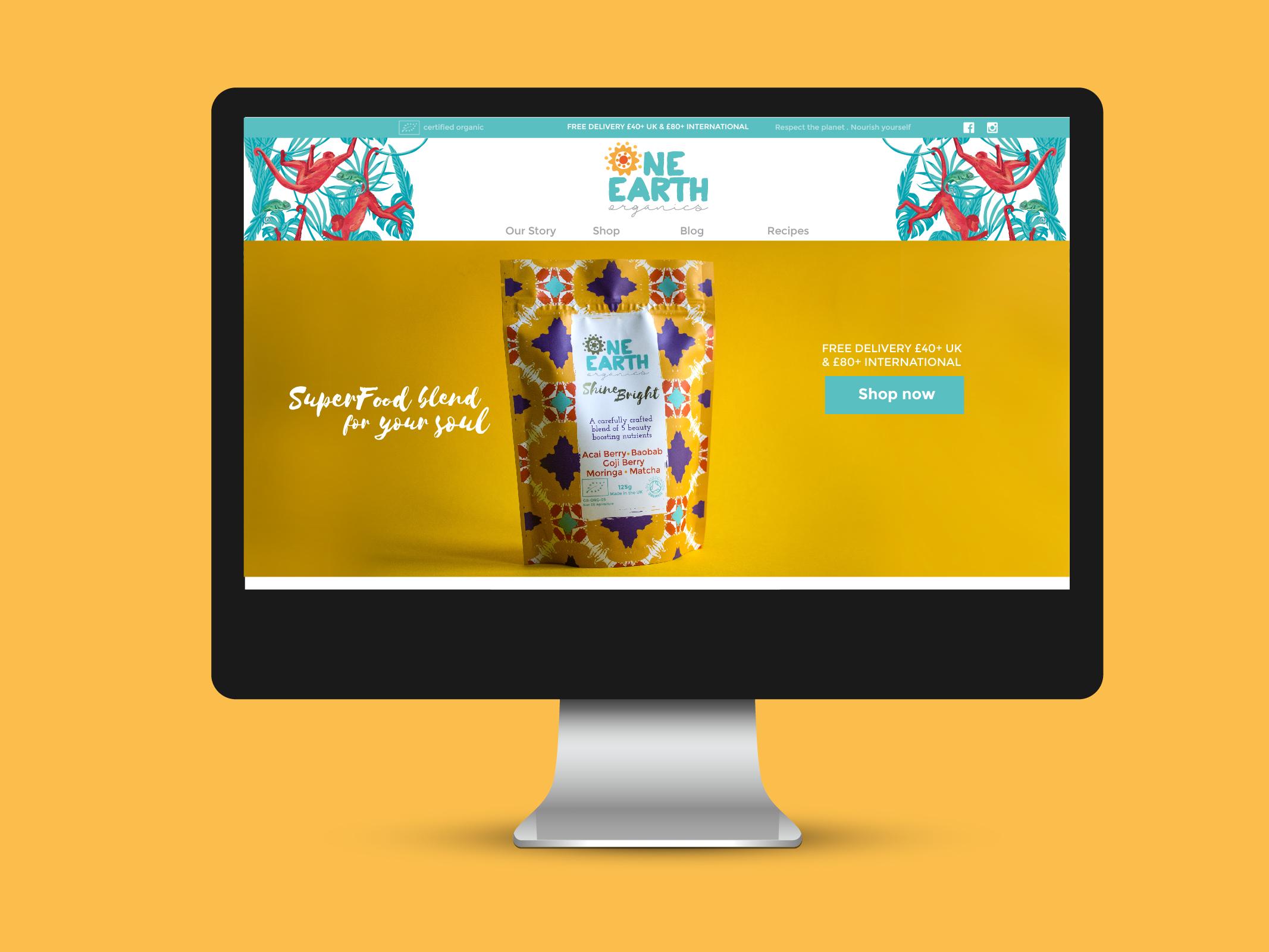 Oneearth responsive webdesign