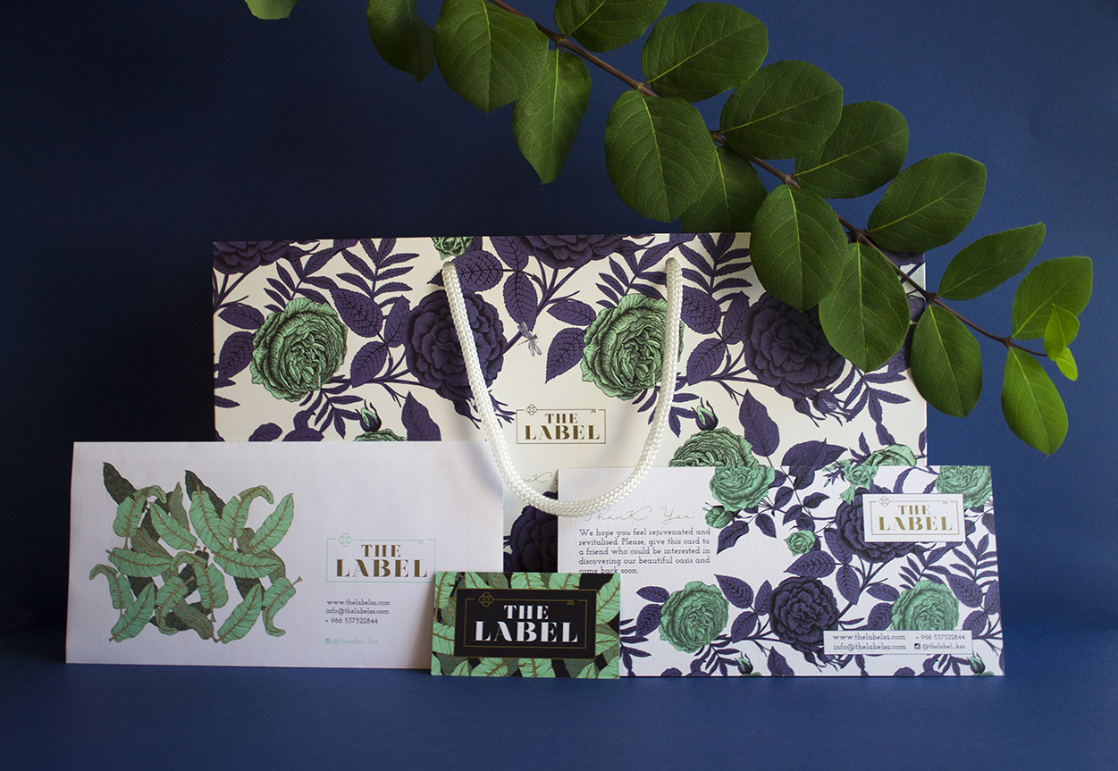 Pattern design and branding for The label spa