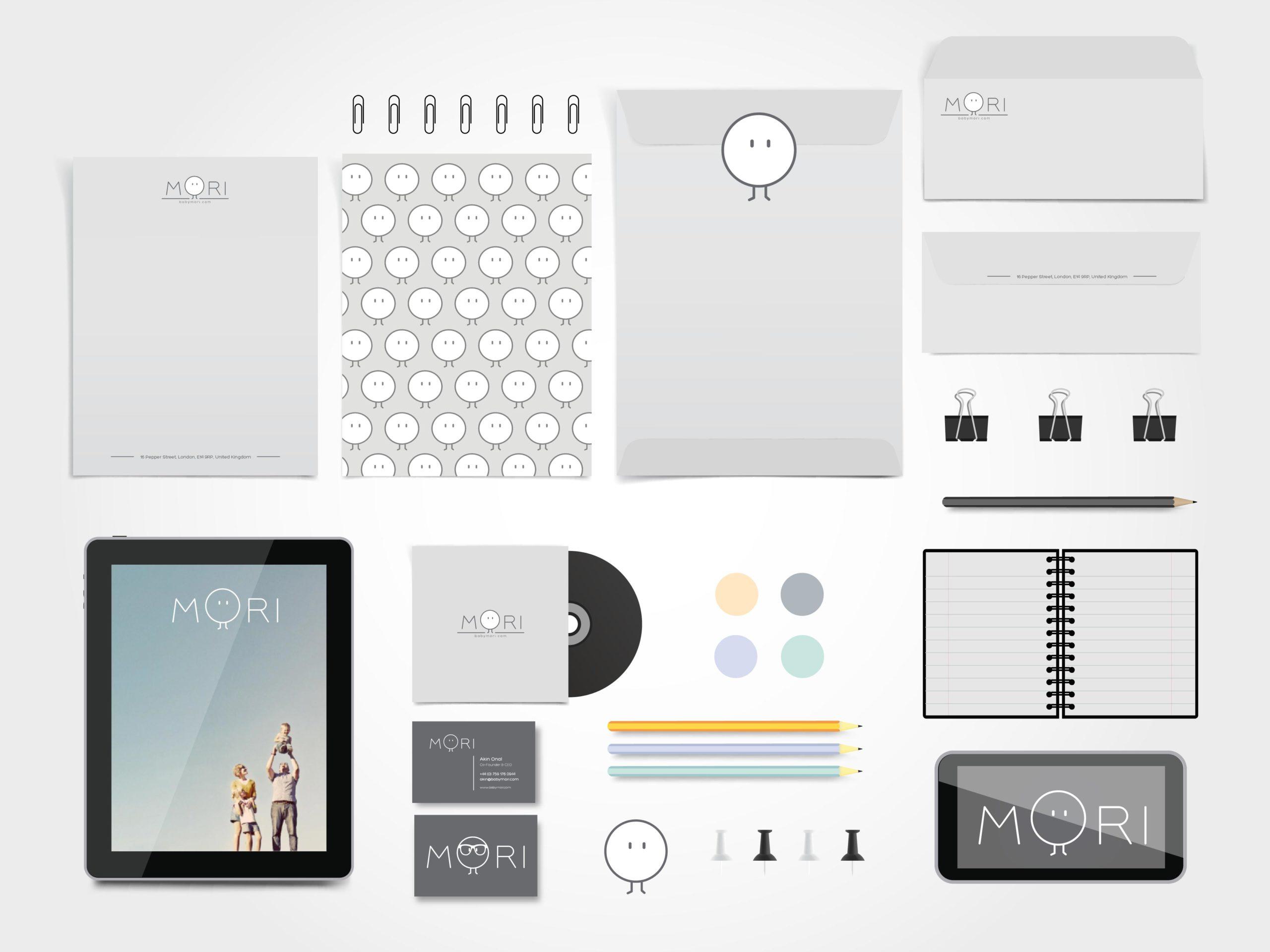 Branding, logo design , webdesign for babymori