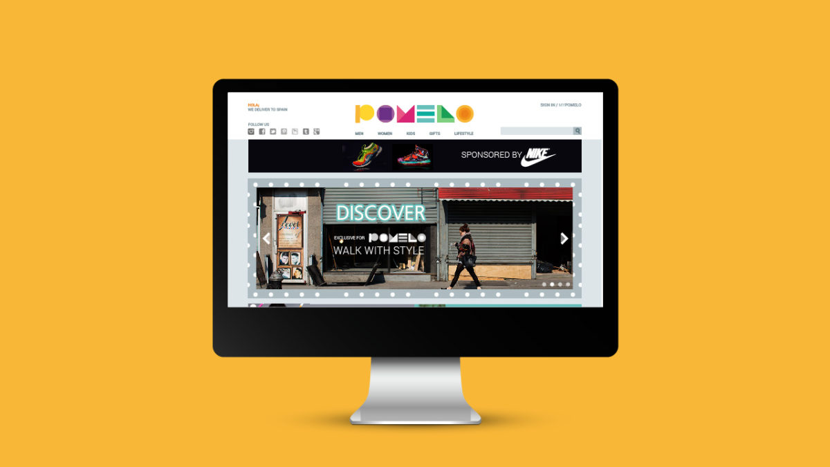 pomelo social shopping ux / web design